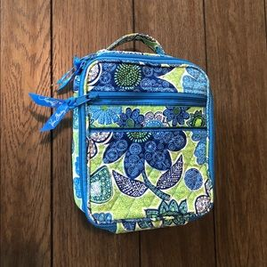 Vera Bradley Blue and Green Floral Lunch Box